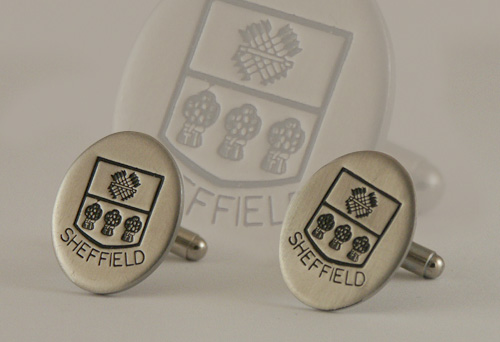 Stainless Steel Crest Cufflinks