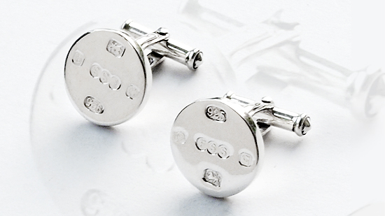 The Famous Sheffield Shop Sterling Silver Round Cufflinks